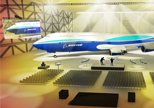 Boeing 747-8I event rendering